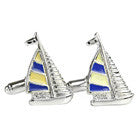 Sailboat Cufflinks (Stainless Steel Rhodium)