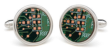 Recycled Mother Board Cufflinks