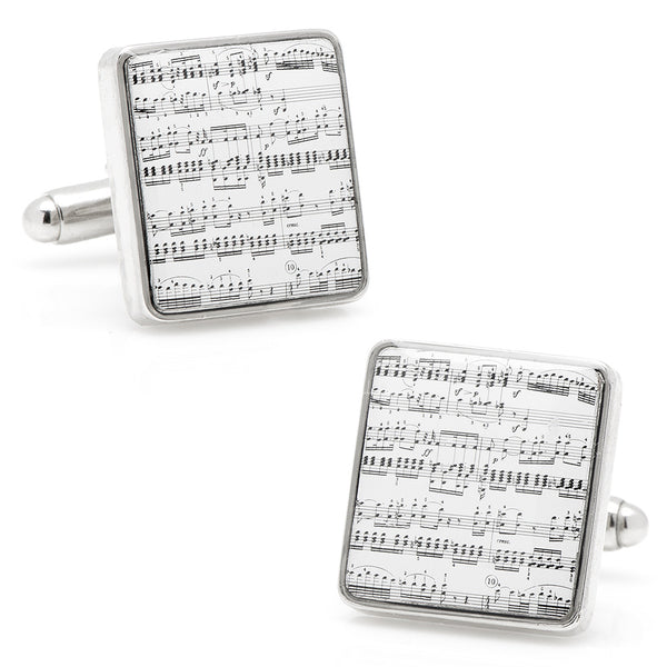 Classical Sheet Music Cufflinks