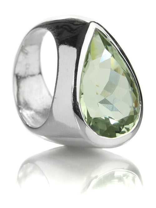 Side Paisley Ring Green Amethyst 6