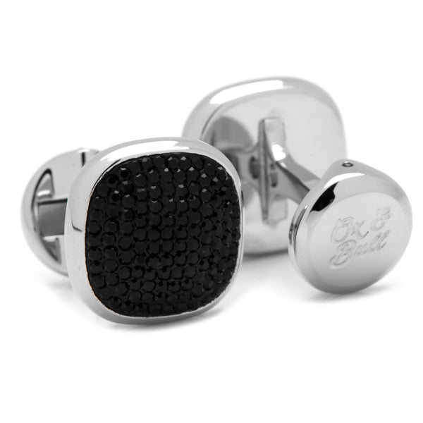 Black Pave Crystal Cufflinks