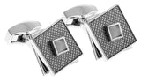 Grey Enamel Spinning Square Cufflinks