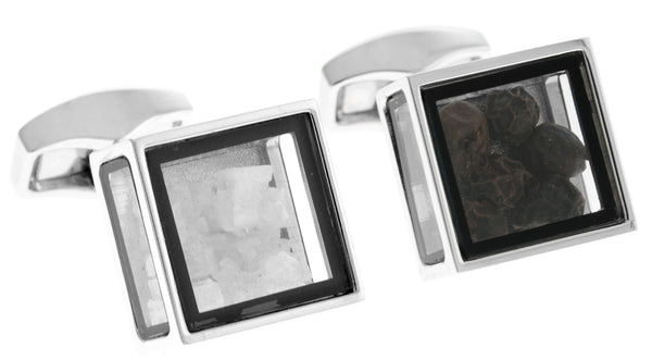 Salt & Pepper Pandora's Box Cufflinks