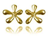18k Gold Plated Mexico Flower Studs