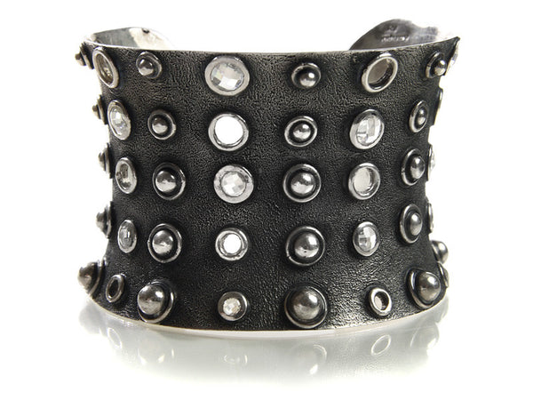 Stone and Stud Cuff Crystal