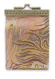 Cathayana Card Holder Grey/Brown, Pink Peacock