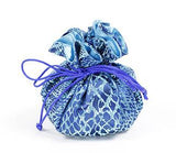 Jewelry Pouch Dark Blue and Light Blue