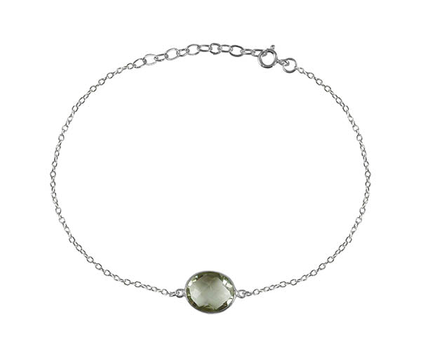 Single Amazon River Rock Bracelet Green Amethyst