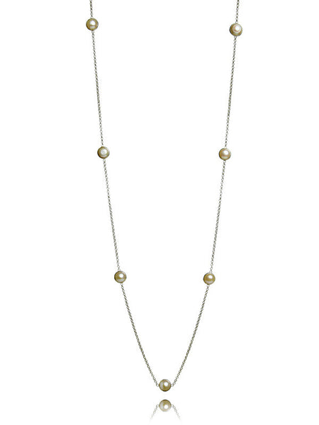 Euro Perla Necklace-White Pearl