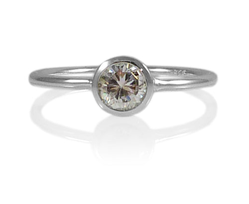 Bilbao Stacking Ring Clear Crystal