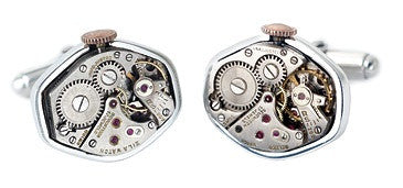 Recycled Watch Part Cufflinks