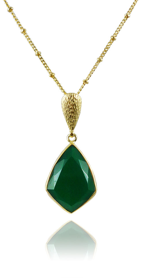 Ice Hole Necklace Green Onyx