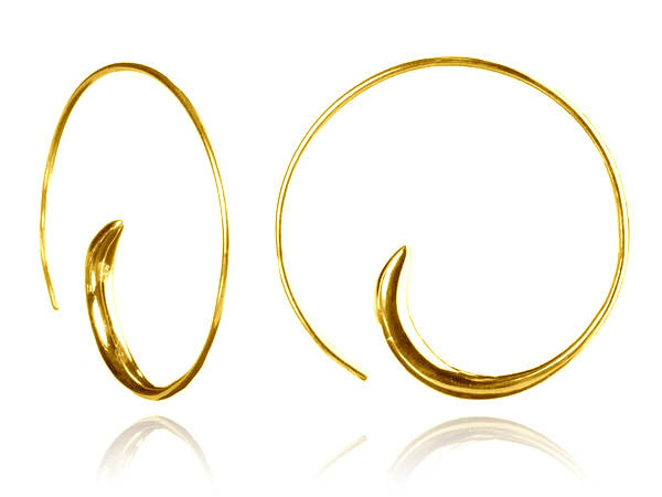 Classic 18k Gold Plated Swirly Earrings