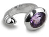 Oval Maidan Ring Amethyst