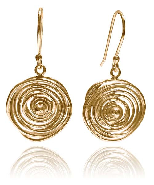 18k Gold Plated Jalebi Earrings