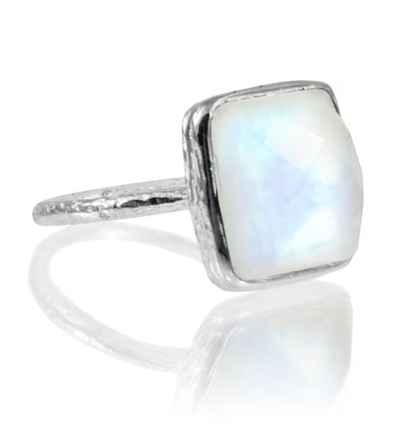 Amalfi Open Sided Cocktail Ring Aqua Chalcedony