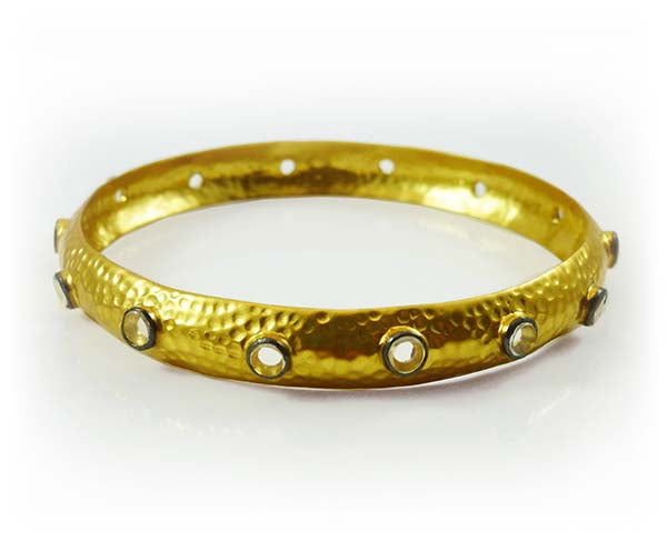 Single Mantra Bangle Gold Plated