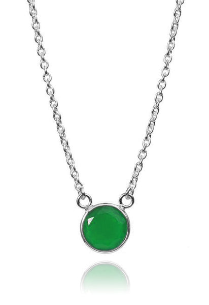Puntino Necklace Green Onyx