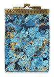 Card Holder Floral Black and Blue RFID