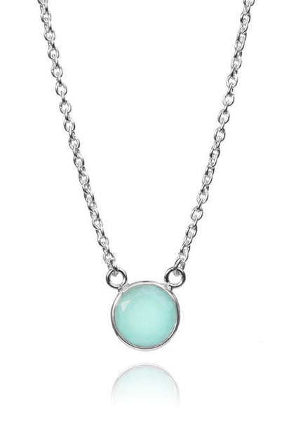 Puntino Necklace Aqua Chalcedony