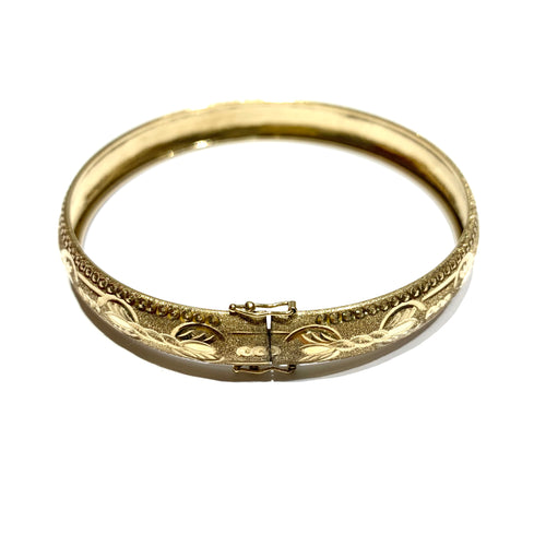10k Gold Latched Bangle