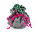 Jewelry Pouch Green and Hot Pink