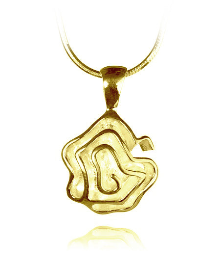 18K Gold Plated Barcelona Flower Pendant