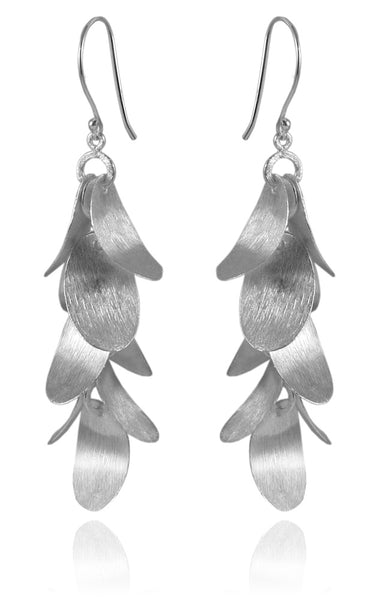 Nine Brushed Leaf Earrings