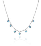 7 Stone Kathak Necklace Blue Chalcedony