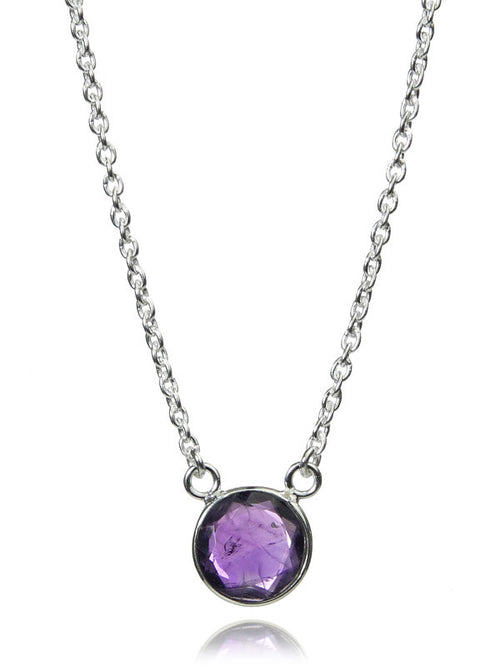 Puntino Necklace (Amethyst)