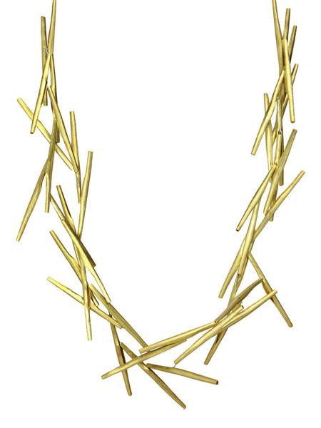 18K Gold Plated Amazon Twig Necklace