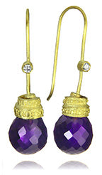 18K Gold Plated Jaipuri Mogul Quartz Drop Earrings