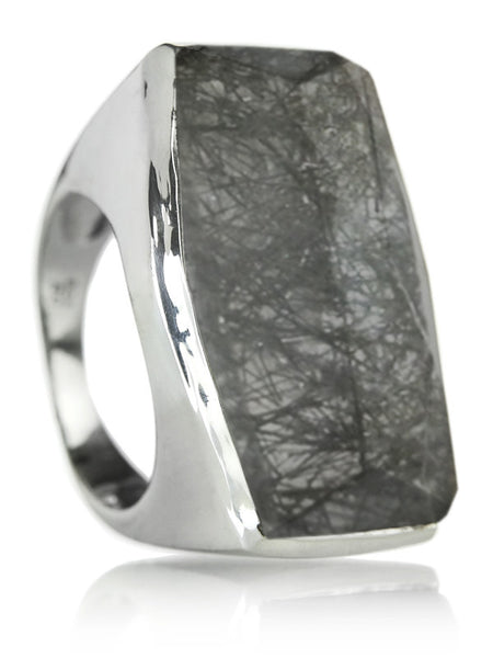 Capri Medium Square Ring Black Onyx