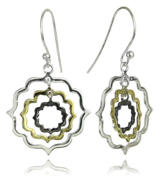 Zamalek Tri-Motif Earrings