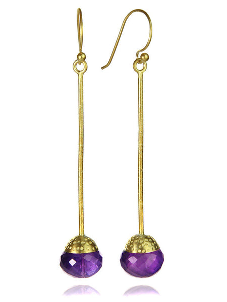 18K Gold Plated Milano Long Drops