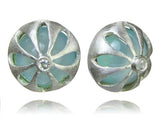 Arabesque Flower Cut Out Studs Aqua Chalcedony