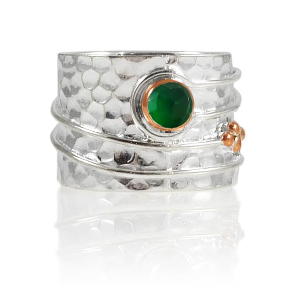 Olive Branch Ring Green Onyx
