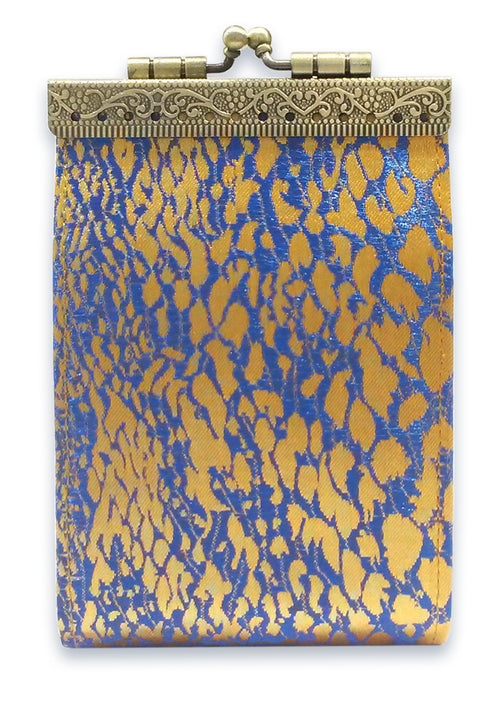 Card Holder Gold and Blue