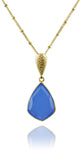 Ice Hole Necklace Blue Chalcedony