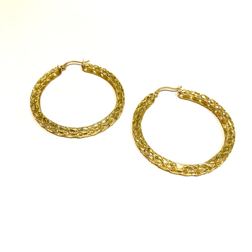 10k Gold Large Turkish Hoops