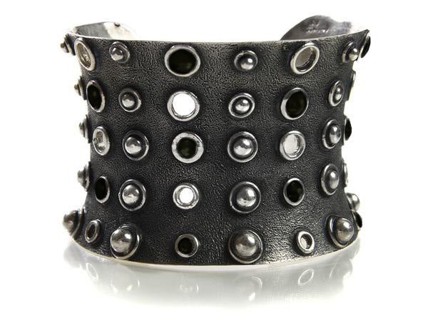 Stone and Stud Cuff Black Onyx