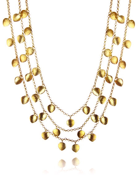 18k Gold Plated Single Line Raqs Necklace