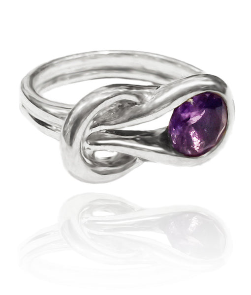 Zamalek Evil Eye Ring Amethyst