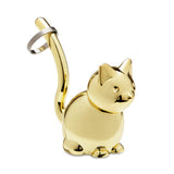 Ring Holder Cat Brass