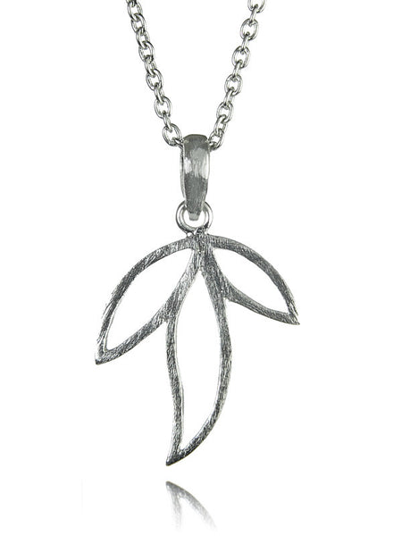 Three Leaf Amazon Pendant with Chain
