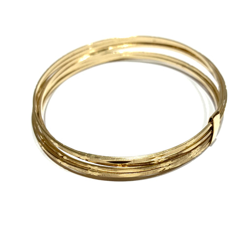 10k Gold 7 Stacked Bracelet