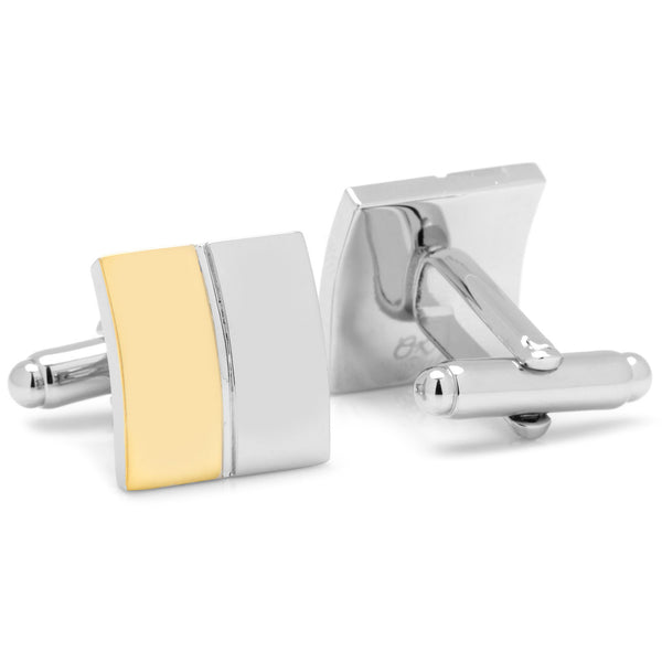 Two Toned Split Square Cufflinks