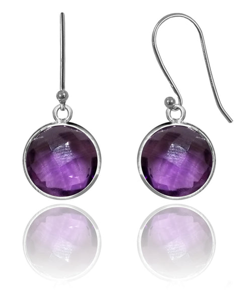 Medium Hanging Puntino Earrings Amethyst