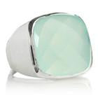 Capri Medium Square Ring - Aqua Chalcedony