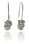 Spanish Sculptured Nido Earrings Silver